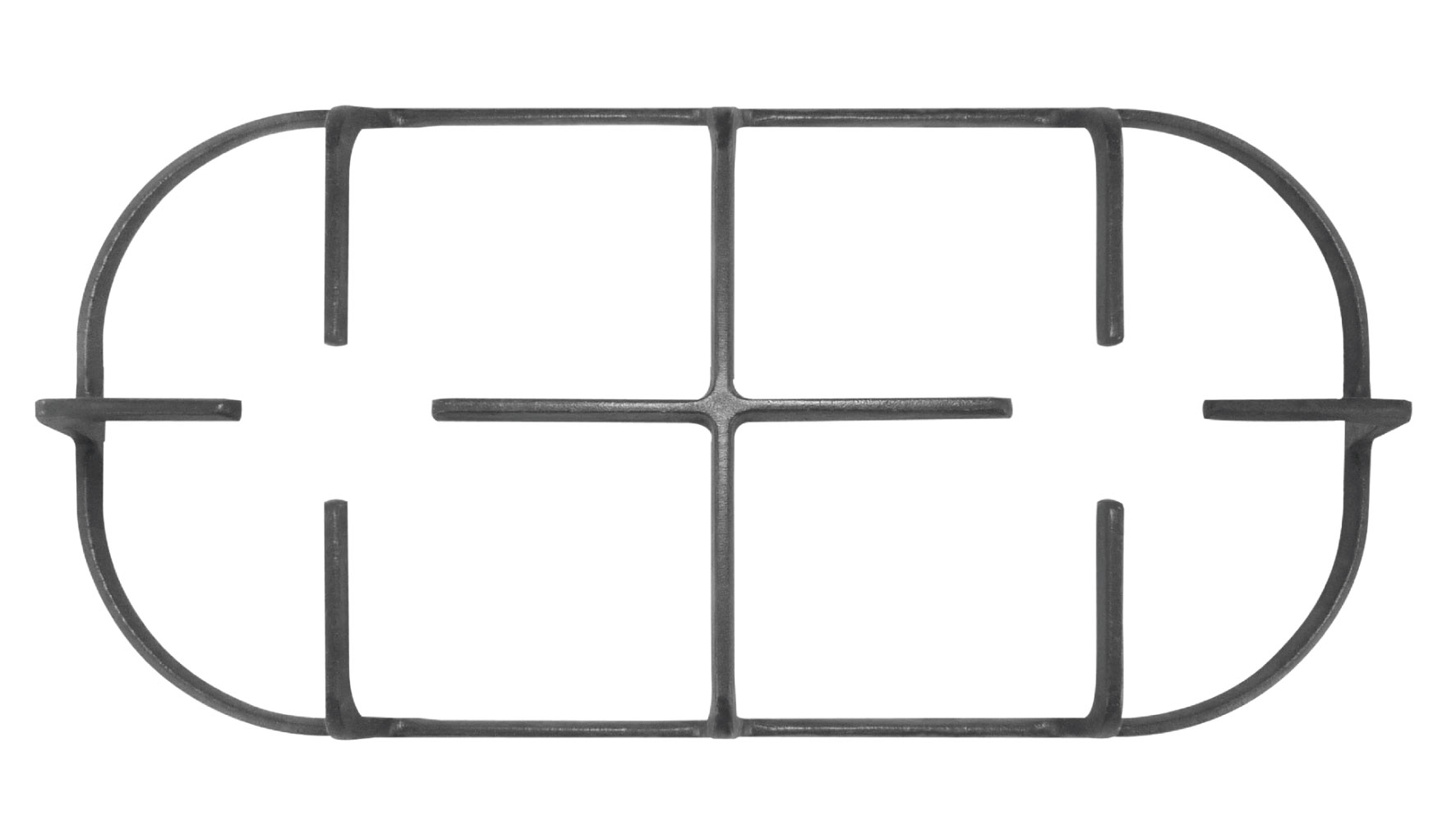 Three cast iron grates (low)